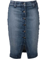 7 For All Mankind Denim Pencil Skirt