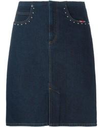 Sonia Rykiel Denim Pencil Skirt