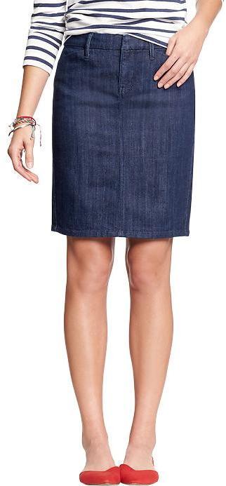 Navy Denim Skirt - Dress Ala
