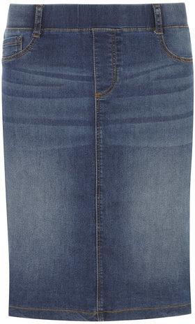 Pull On Jean Skirt