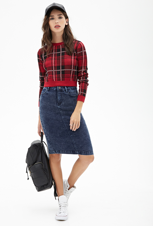 Forever 21 High Waisted Denim Skirt   Where to buy & how to wear
