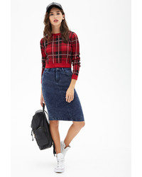 Forever 21 High Waisted Denim Skirt | Where to buy & how to wear