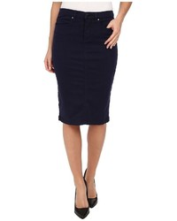 Blank NYC Navy Blue Pencil Skirt