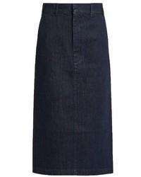 Raey Ry Denim Pencil Skirt