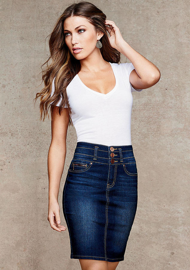 High Waisted Blue Jean Skirts - Is Jeans