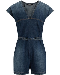 Rachel Comey Indigo Short Glinda Denim Playsuit