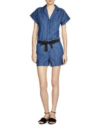 Maje Party Denim Romper