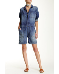 Current/Elliott The Basic Jailbird Shortall Romper
