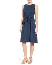 Nic+Zoe Denim Days Tie Waist Dress