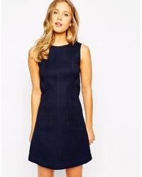 70s blue shift dress medium 236666