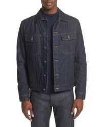 Navy Denim Shirt Jacket