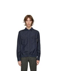 Neil Barrett Indigo Denim Blouson Shirt