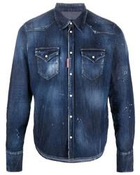 DSQUARED2 Acid Wash Denim Shirt