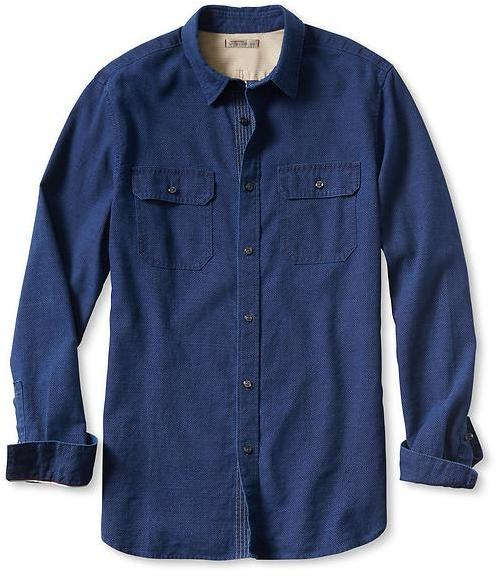 Heritage Indigo Denim Utility Shirt Navy By Banana Republic