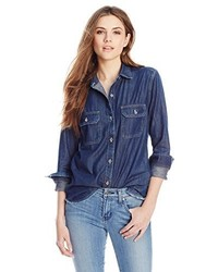 Big Star Bobby Button Up Denim Shirt Jean Shirt In