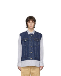 Junya Watanabe Blue And White Levis Edition Striped Shirt