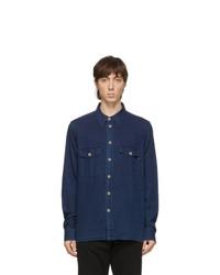 Ps By Paul Smith Blue Denim Classic Shirt