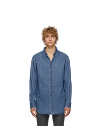 Brioni Blue Denim Regular Shirt