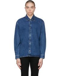 Frame Blue Organic Denim Loose Fit Shirt
