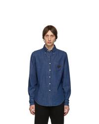 Prada Blue Washed Denim Shirt
