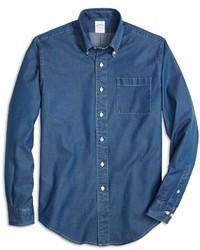 Brooks Brothers Regent Fit Denim Sport Shirt