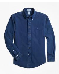 Brooks Brothers Regent Fit Indigo Dyed Sport Shirt