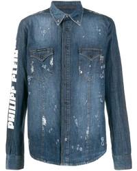 Philipp Plein Button Down Denim Shirt