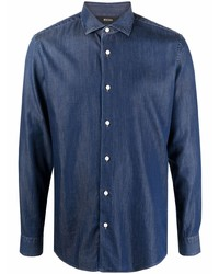 Z Zegna Classic Collar Denim Shirt
