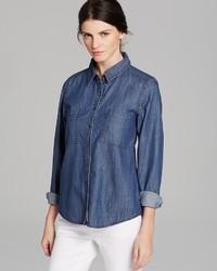 Eileen Fisher Classic Collar Denim Shirt