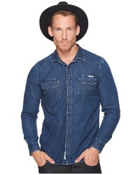 Lucky Brand Classic Fit Western Denim Shirt Clothing