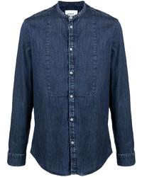 Dondup Collarless Cotton Denim Shirt