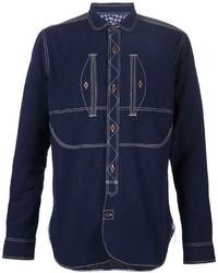 Comme des Garcons Junya Watanabe Comme Des Garons Man Stitch Detail Denim Shirt