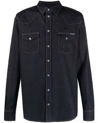 Dolce & Gabbana Contrast Stitching Denim Shirt