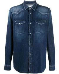 Dondup Curved Hem Flap Pocket Shirt