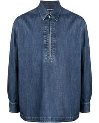 Valentino Denim Collared Shirt