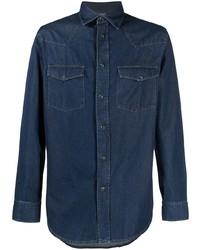 Brioni Denim Long Sleeve Shirt