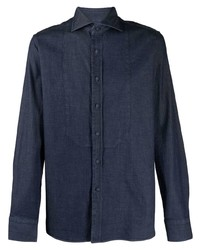 Tagliatore Denim Look Long Sleeve Shirt