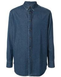Brioni Denim Pointed Collar Shirt