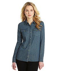 Jones New York Signature Denim Shirt