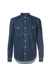 Givenchy Denim Shirt With Contrast Logo Trim