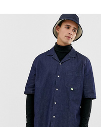 Collusion Denim Shirt With Revere Collar