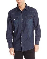 Dickies Long Sleeve Denim Western Shirt