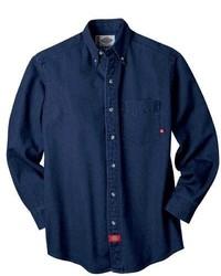 Dickies Long Sleeve Denim Work Shirt