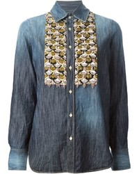 Dsquared2 Sequin Detail Denim Shirt
