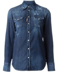 Dsquared2 western shirt medium 698627