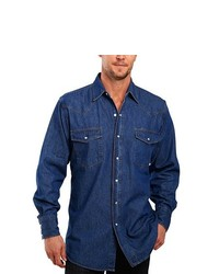 Ely Cattleman Denim Washed Snap Shirt