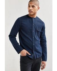 Cheap Monday Erase Collar Denim Button Down Shirt