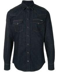 Dolce & Gabbana Flap Pockets Denim Shirt