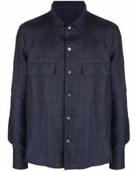 Ermenegildo Zegna Flap Pockets Denim Shirt