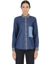 Golden Goose Deluxe Brand Patchwork Denim Shirt
